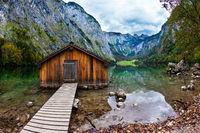 Boat garage in the lake
