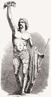 Brennus or Brennos, a chieftain of the Senones, an ancient Celtic Gallic culture