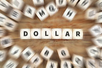 Dollar Geld Währung USA US Wirtschaft Finanzen Würfel Business Konzept