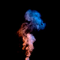 abstract design of colored smoke