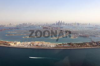 Dubai The Palm Palme Insel Marina Luftaufnahme Luftbild