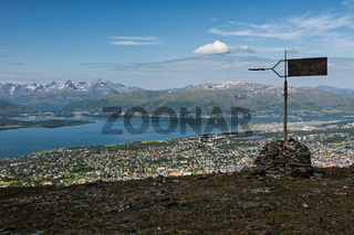 View of Tromso and mountains, Norway