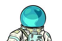 Portrait of astronaut helmet isolated on white background