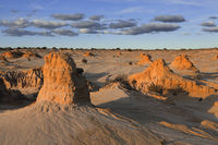 Mounds in the desert landscape outback Australia