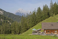 Oberbrunnalm im Karwendelgebirge