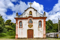 Aged historical church in Ouro Preto city
