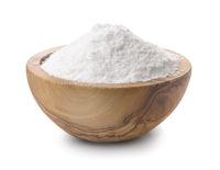 Wooden bowl of salt