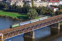 Personenzug bei Usti nad Labem (Tschechien)