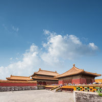 beijing forbidden city against blue sky