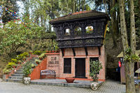 Eingang zum Club Himalaya Hotel, Nagarkot, Kathmandu, Nepal