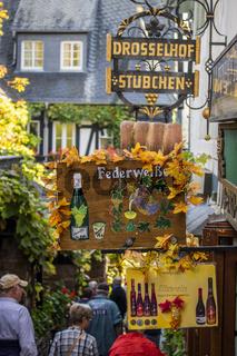 Rüdesheim am Rhein, Weinstadt in Deutschland, Drosselgasse