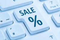 Sale Ausverkauf Online Shopping E-Commerce einkaufen Internet Computer Tastatur blau