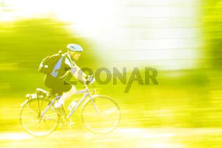 Radfahrer in Bewegung