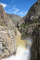 Buffalo Bill Dam water discharge and ranbows