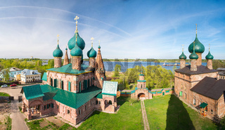 Ensemble of the churches in Yaroslavl, Golden ring of Russia.