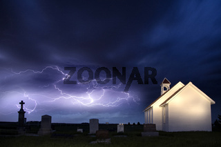 Storm and the Country Church