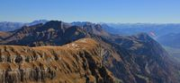 Mount Nideri, Fulfirst, Gamsberg, Alvier and others in autumn. Swiss Alps.