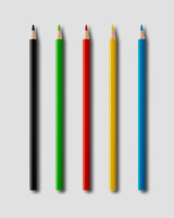 Coulouring pencils isolated on grey