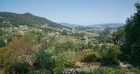 Blick auf Redondela, Galizien, Spanien