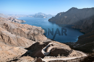 Jebel al Harim fjord from the top, Oman