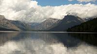 Canoe Rowboat Lake McDonald Glacier National Park Montana
