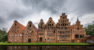Salzspeicher, historic salt storage warehouses in Lubeck, Germany