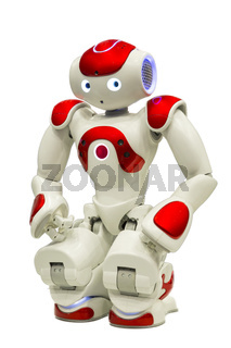 Programmable robot on white