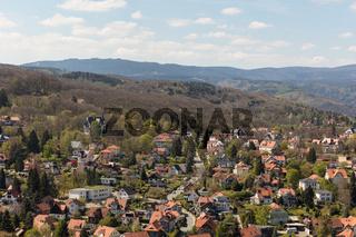 Landschaft mit Stadtbild von Wernigerode