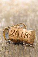 Champagnerkorken an Neujahrsparty 2018