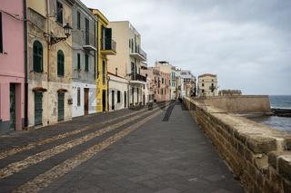 Uferpromenade von Alghero, Sardinien