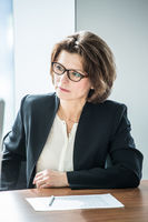 Business woman at meeting table