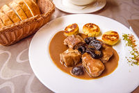 Pork medallions and dried plums