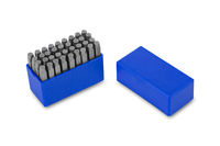 metal lettering stamps punch set in a plastic box