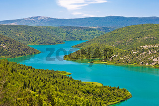 Krka river national park view