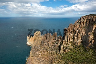 Rugged coastline cliffs