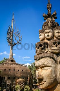 Sculptures in Buddha Park