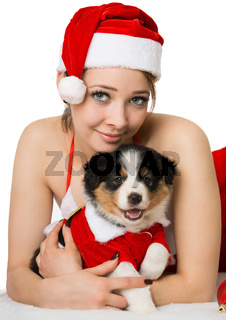 Weihnachten mit Welpe