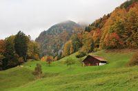 Rural autumn scene near Brienz, Bernese Oberland.