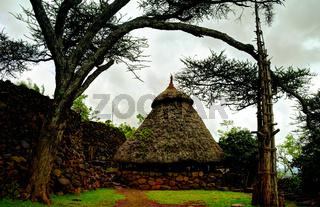Traditional Konso tribe village, Karat Konso , Ethiopia