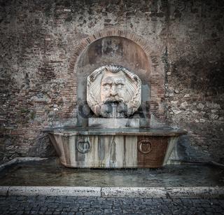 Fountain in Aventine Hill, Rome, Italy
