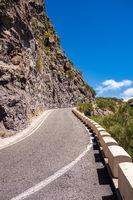 Straße auf der Kanarischen Insel Teneriffa