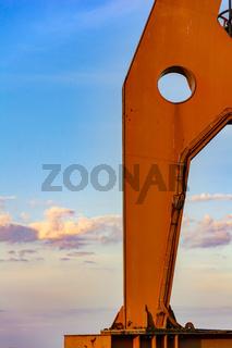 Crane detail with blue sky