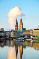Cityscape of Hamburg, Germany
