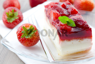 Erdbeerschnitte / strawberry cream cake