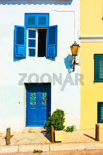 Houses in Plaka district in Athens