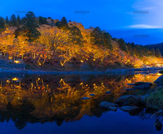 Korankei Forest autumn park Nagoya