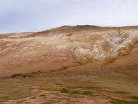 die ostseite des aktiven Vulkans Leirhnjúkur in Island
