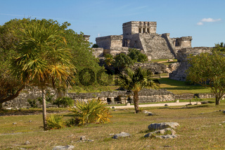 Mayan Ruins of Temple in Tulum Mexico