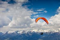 Paraglider above South Tyrol,