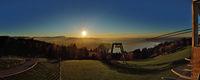 Bodenseepanorama im Sonnenuntergang vom Pfänder